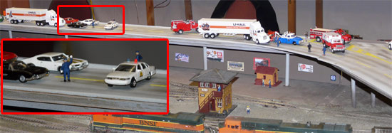 Stopping traffic for a crash - Utah Pacific layout
